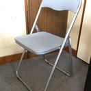 (交渉中)折りたたみ パイプ椅子 グレー 会議椅子 8脚セット