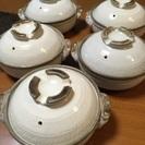 【未使用品】土鍋、5個セット