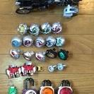 仮面ライダー ウィザードのバイクと指輪 ガイムロックシード