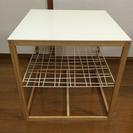 【値下げします】IKEA  ホワイト天板  テーブル