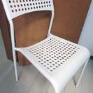 ★配送無料 IKEAダイニングチェア レッド3脚、ホワイト1脚の合...