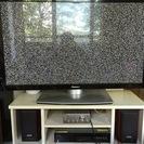 50型プラズマテレビ(必要ならば、テレビ台、アンプ、スピーカー2台...