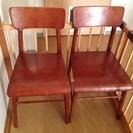《お取引中》椅子2脚 *希望に応じてテーブルのおまけ付き