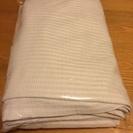 ニトリの白いチェックのカーテン