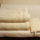 2羽毛布団と1枕