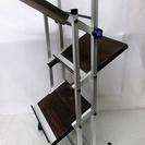 アルミ製 音響機材 設置用ラック キャスター付