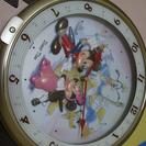 ディズニー 掛け時計 音楽はなるけど...