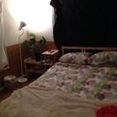 IKEAのベッドフレームとマットレス(美品)