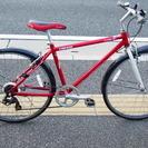 お買い上げ有難うございましたクロスバイク 自転車 28インチ 6速 赤
