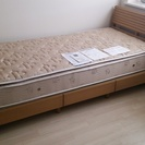 シングルベッド ナチュラル ニトリ 収納付き 引出し3つ 新品同様