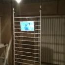 壁かけテレビ と 突っ張りウォール ☆白色
