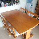 【再出品】ダイニングテーブル椅子4脚付、使い込んでます!差し上げます