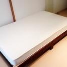 (無印良品)セミダブルベッド ベッド付・引き取りのみ