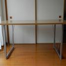 作業テーブル(天板木目ベージュ 幅150cm・奥行90cm・高さ7...