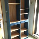 綺麗なブルーの本棚 ※追加棚板あります※綺麗になりました