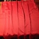 ラズベリー色のドレープカーテン 美品です!