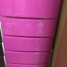 チェストタンス(プラスチック製)ピンク5段