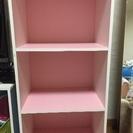 カラーボックス三段 (ピンクor水色)