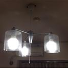 ガラスシェード ライト オシャレ 3連