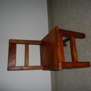 木の子供椅子 カントリー調
