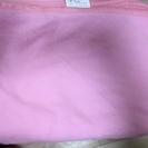 フリース毛布(ダブルサイズ:140×190)ピンク お譲りします!