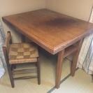 レトロな机&椅子セット