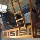 木製ロフトベッド、はしご付き、差し上げます。