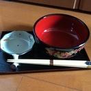 お箸 お盆 小皿 椀 4点セット×5客