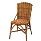 【9/14迄】【値下げ】【人気家具unico】涼しげ籐椅子。