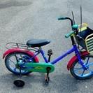 日本製の部品などが使われている、古いけどしっかりした幼児用の補助輪...