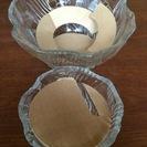そうめん鉢 岩清水 ガラス鉢 3セット【未使用】