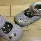 女児靴・リスとドングリ