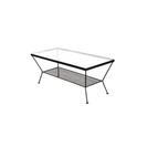 【人気家具unico】部屋が広く見える、ガラスローテーブル