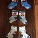 (取引終了)靴下3足 12~15cm トーマス&アンパンマン