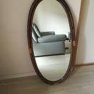 大きな藤枠の鏡 お値下げしました
