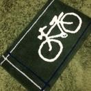 玄関マット グリーン 自転車 オシャレ