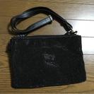 黒スパンコールバッグ