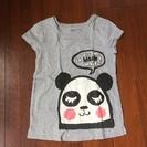 GapKids  パンダのグレーTシャツ 140