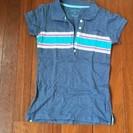 かわいいポロシャツ 青 130