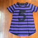 CHUBBYGANG(チャビーギャング)のTシャツ 紫と黒ストライ...
