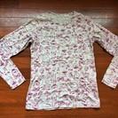 ユニクロ グレー柄入り 長袖Tシャツ 150