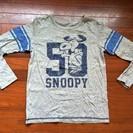 ユニクロ スヌーピーグレー長袖Tシャツです。