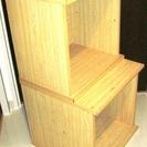 箱型のカラーボックス2個セット(中古)