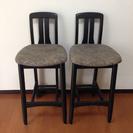 ハイチェアー 椅子 木製 レトロ モダン
