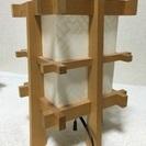 木と和紙の電気スタンド 灯篭