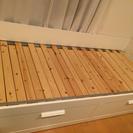 IKEA BRIMNESベッド(シングル-ダブル・引き出し付き)
