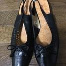 【未使用】黒、女性用靴☆【25.5cm】
