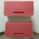 美品☆収納ボックス フロック 30 深型 ピンク ケース 衣類 押入れ