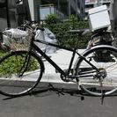 クロスバイク 自転車6段変速 27インチ 中古 錆び有 無料
