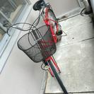 自転車 24インチ 赤 ママチャリ 札幌